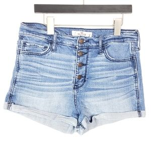 Hollister High Rise Button Fly Shorts